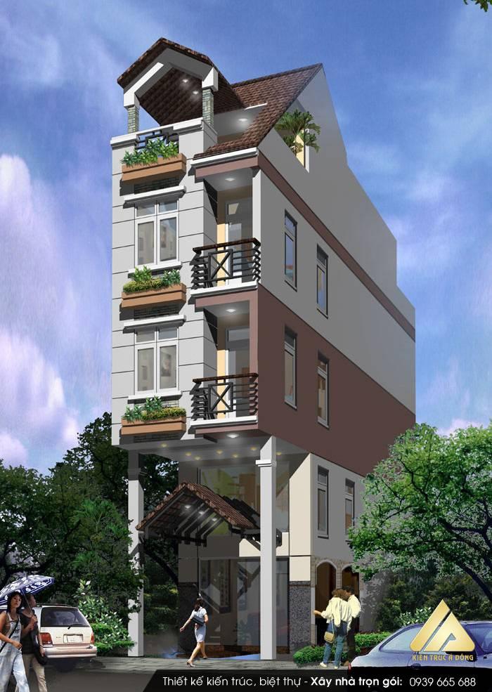 Mẫu nhà phố 5 tầng sang trọng, đẳng cấp tại Đà Nẵng