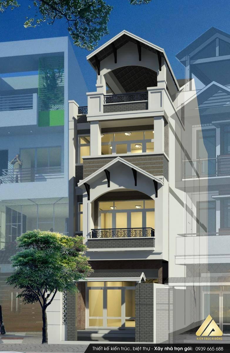 Mẫu nhà phố 6 tầng hiện đại, đẹp tại Hà nội