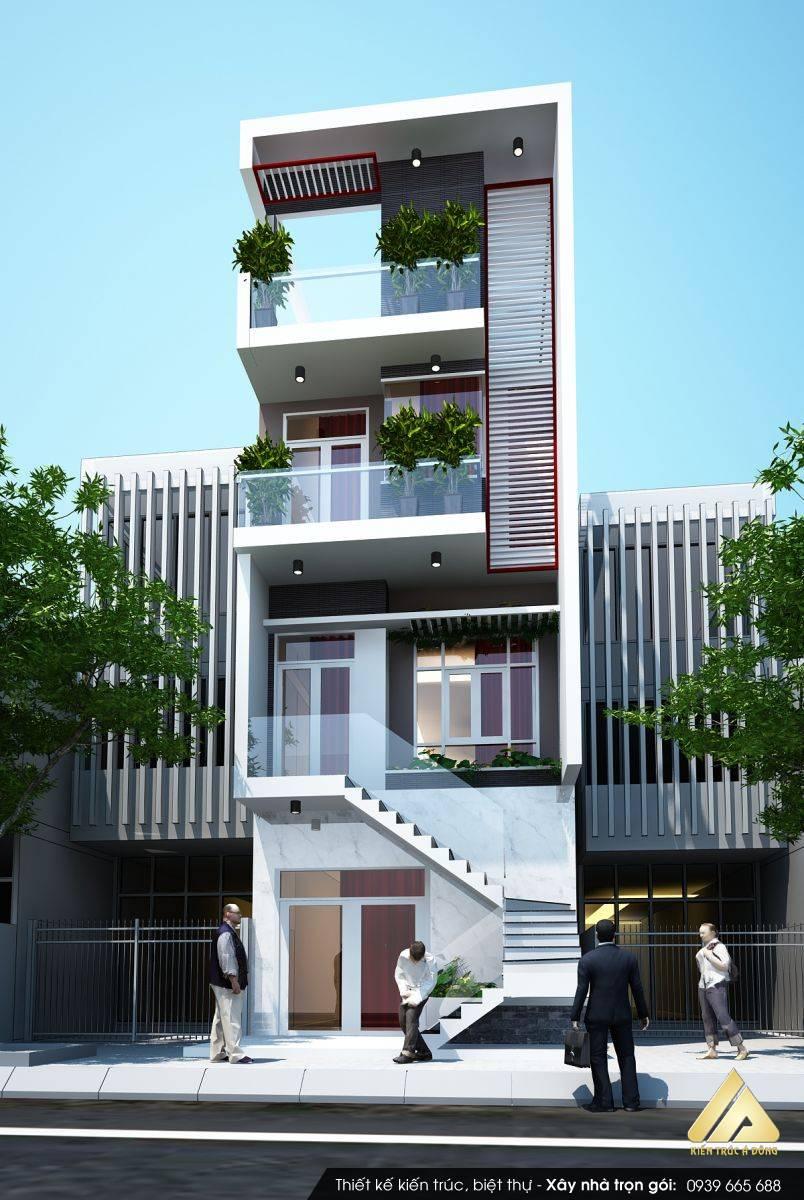 Mẫu nhà phố 5 tầng phong cách hiện đại tại Hồ Chí Minh
