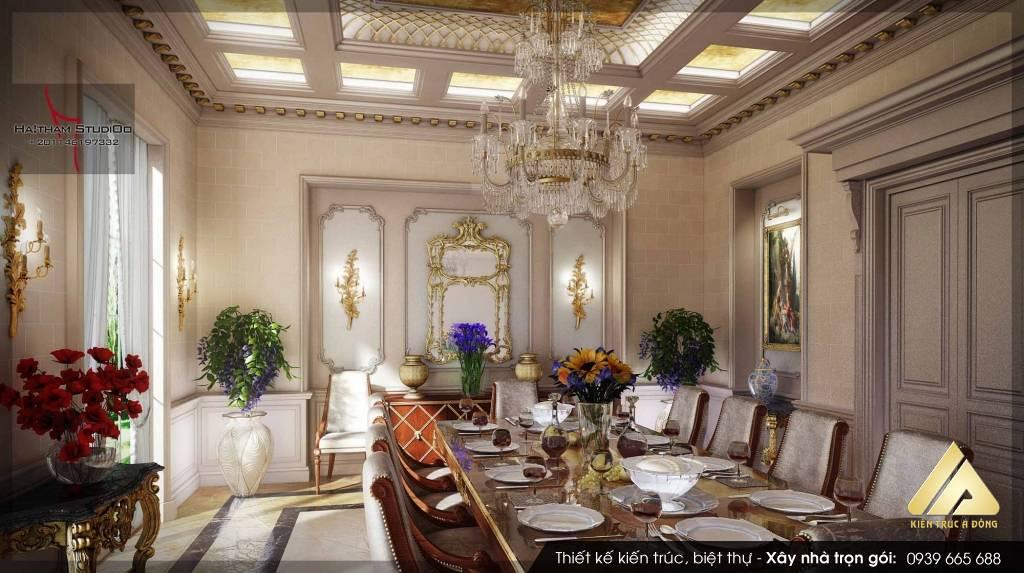 Mẫu thiết kế nội thất cổ điển Châu Âu sang trọng