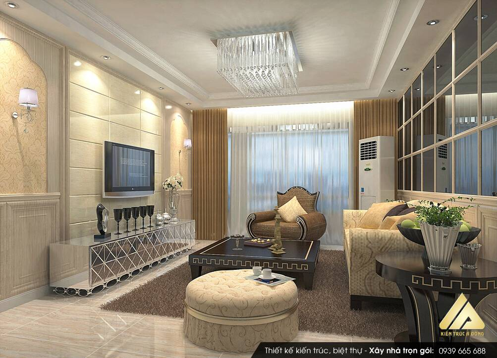 Thiết kế nội thất biệt thự tân cổ điển sang trọng đẳng cấp