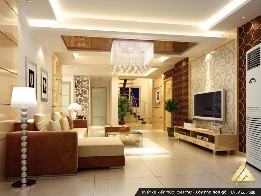 Thiết kế nội thất phòng khách cao cấp TP Hà Nội