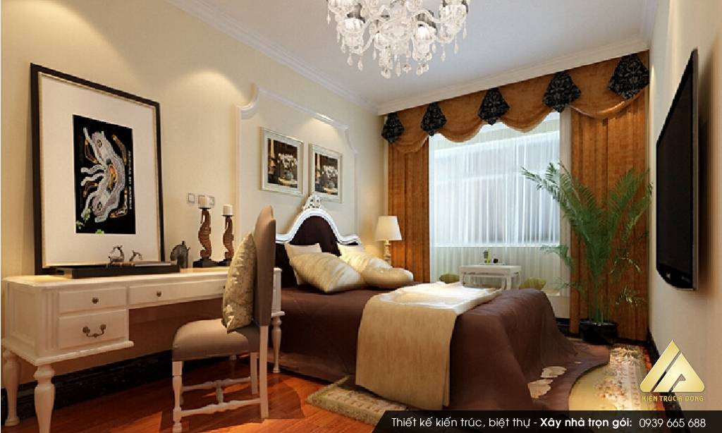 Thiết kế nội thất nhà phố đẹp mang phong cách tân cổ điển