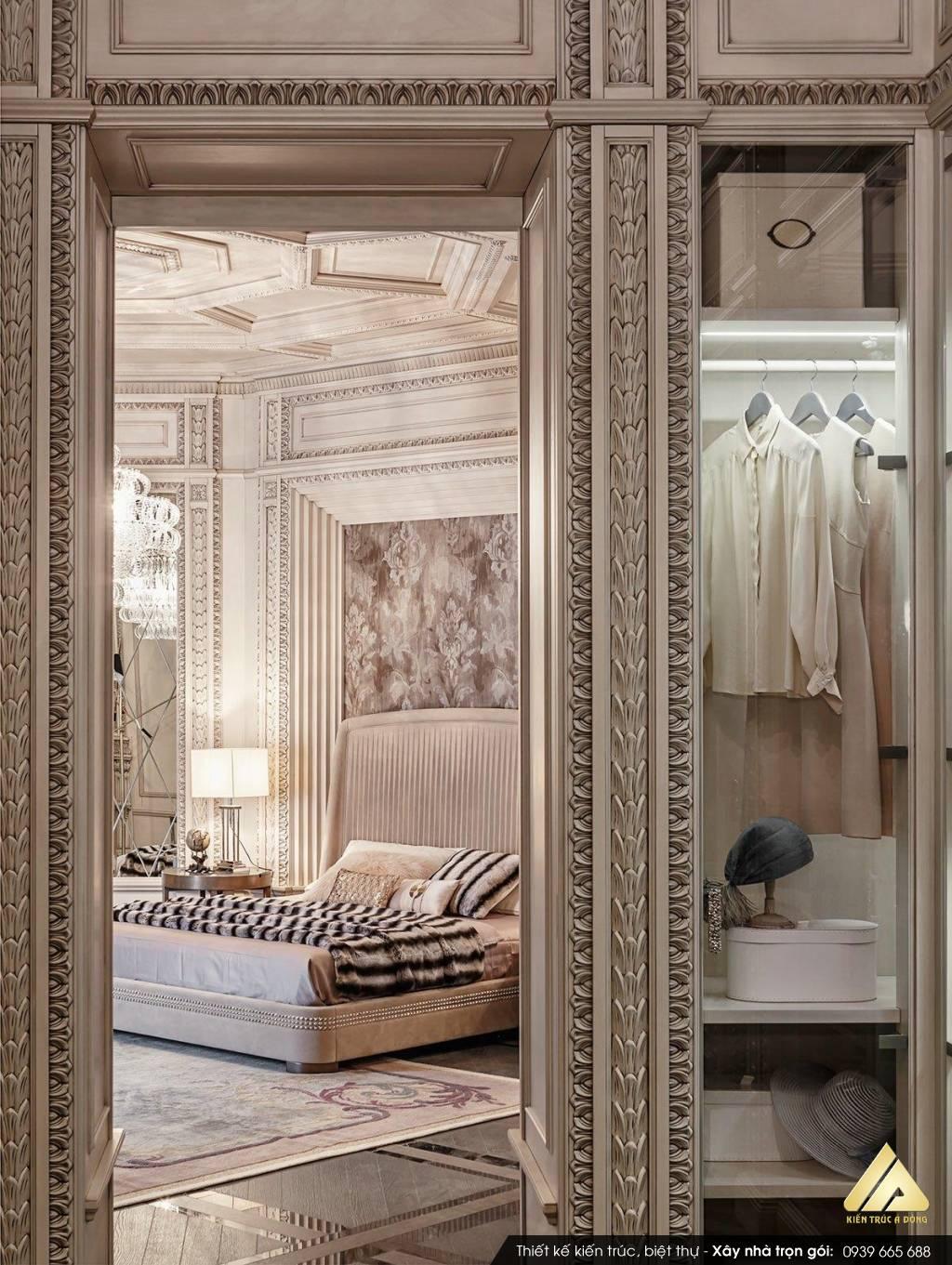 Mẫu nội thất biệt thự đẹp phong cách Châu Âu