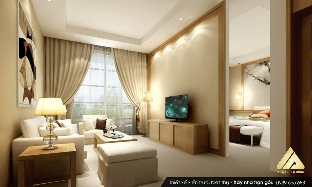 Mẫu nội thất nhà chung cư 65m2 đẹp tinh tế ở đô thị Kim Văn