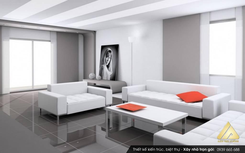 Mẫu nội thất phòng khách biệt thự đẹp, sang trọng