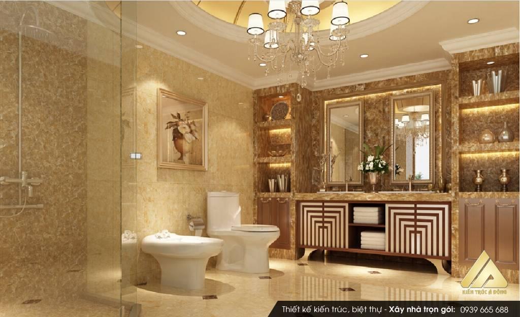 Mẫu thiết kế nội thất biệt thự cao cấp phong cách Châu Âu