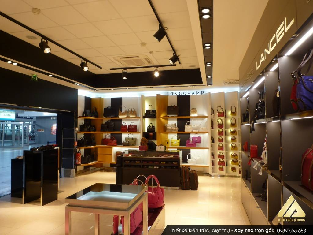 Thiết kế nội thất showroom cửa hàng đẹp, hiện đại