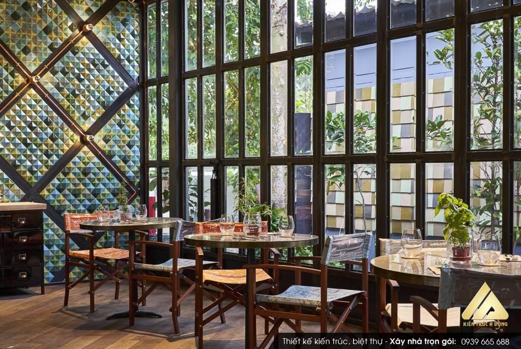 Mẫu thiết kế quán cafe đơn giản Cafe Green Garden