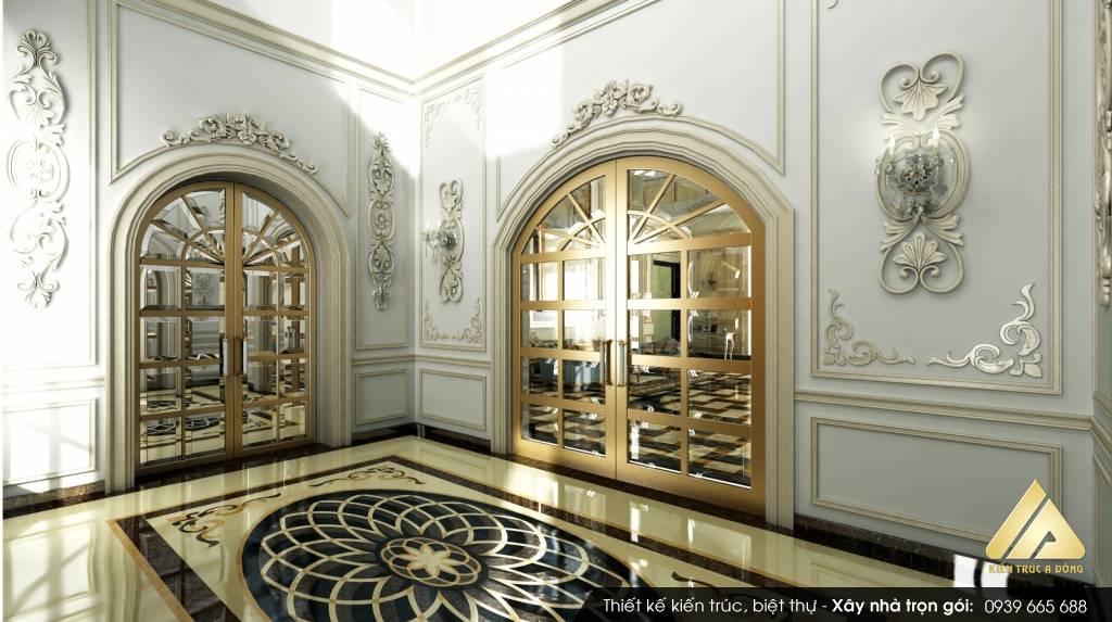 Thiết kế toà nhà văn phòng 5 tầng phong cách hiện đại