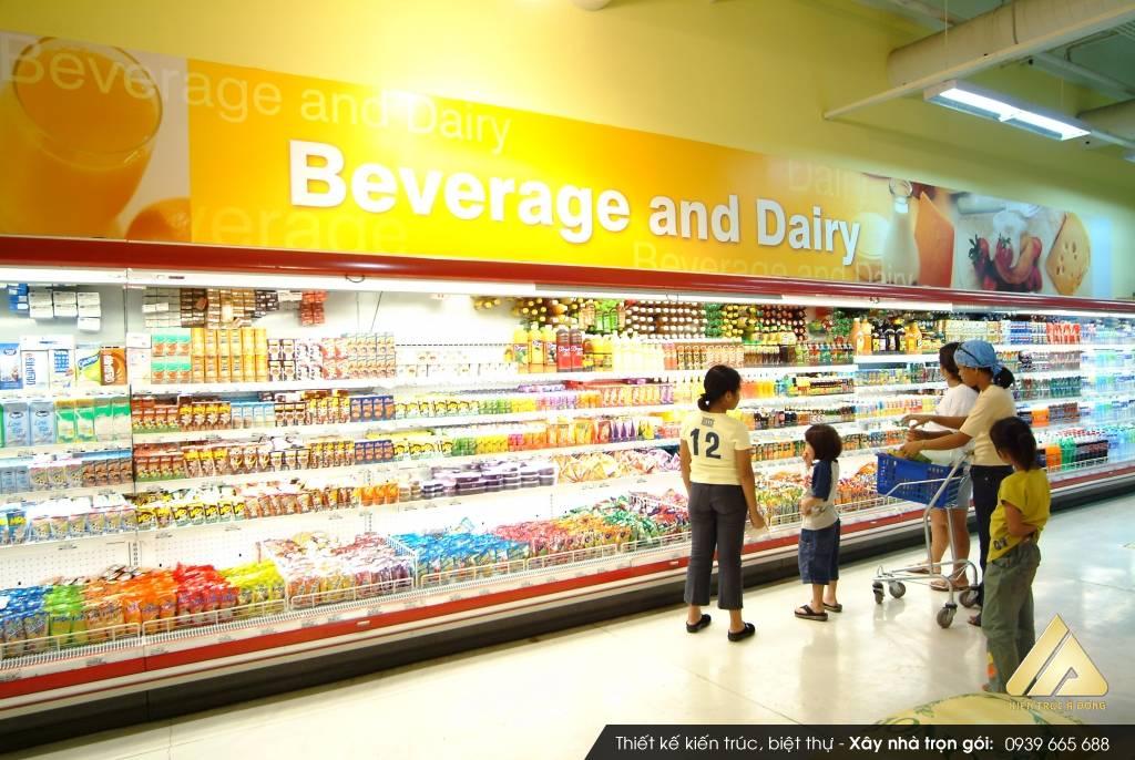 Mẫu thiết kế siêu thị đẹp, hiện đại tại TP Bắc Giang