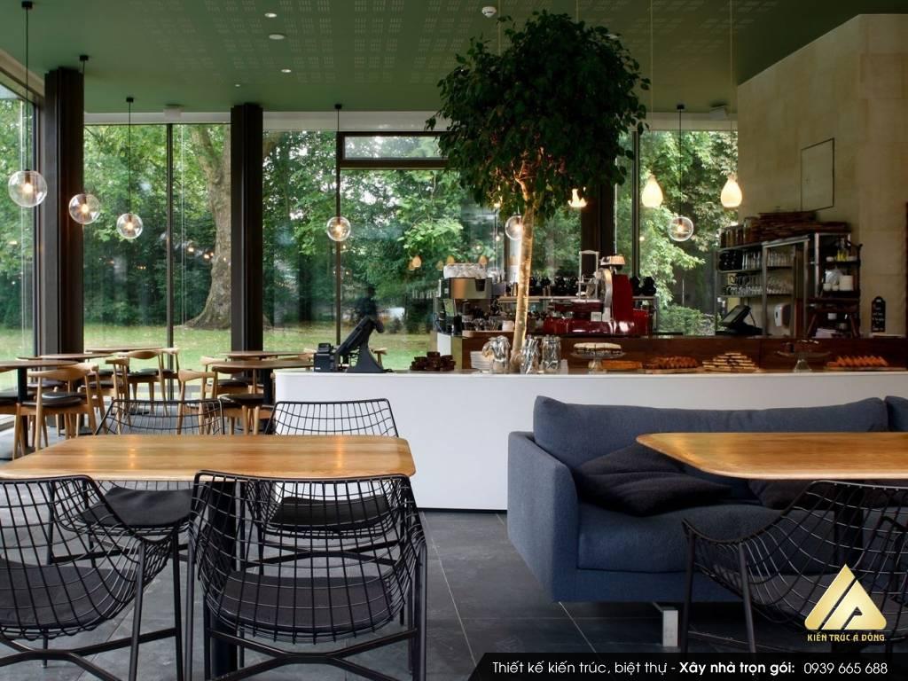 Mẫu thiết kế quán cafe sân vườn đẹp - quán Cafe Billiards