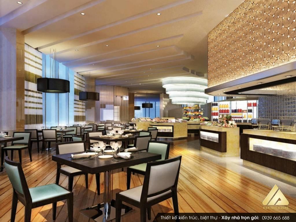 Mẫu thiết kế nhà hàng lẩu nướng không khói hiện đại