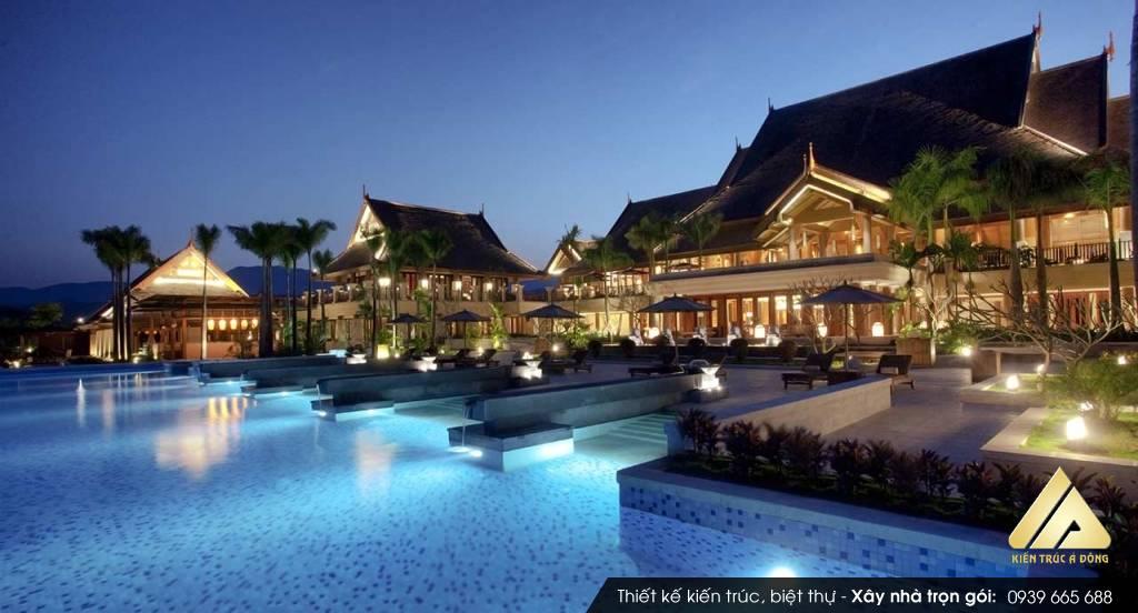Thiết kế sân vườn resort