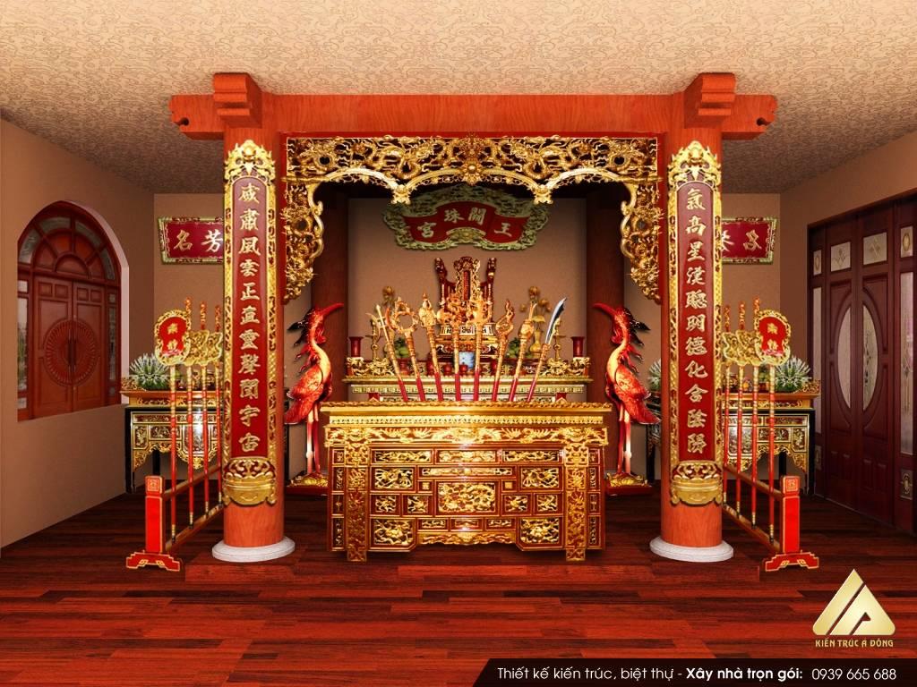 Thiết kế phòng thờ nhà ống