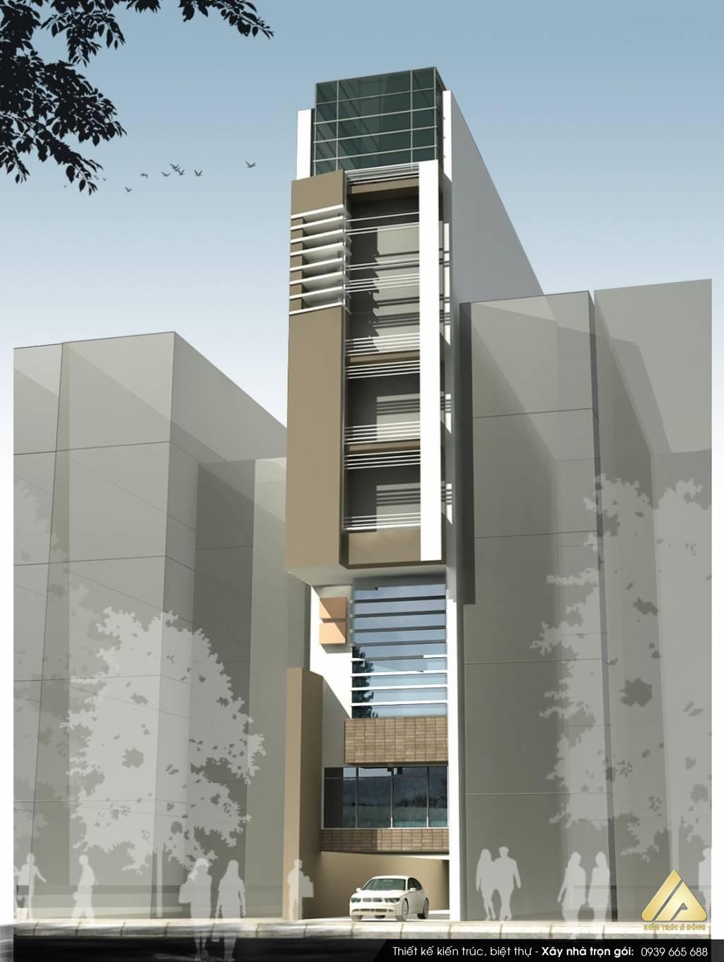 Mẫu nhà phố 6 tầng