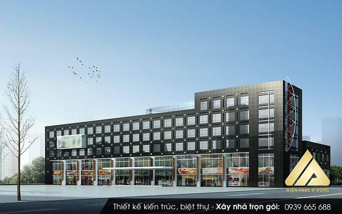 Thiết kế trung tâm thương mại 5 tầng