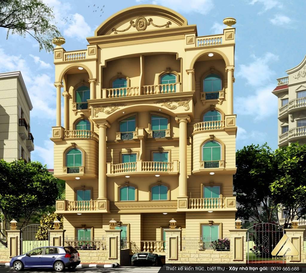 Thiết kế biệt thự 5 tầng