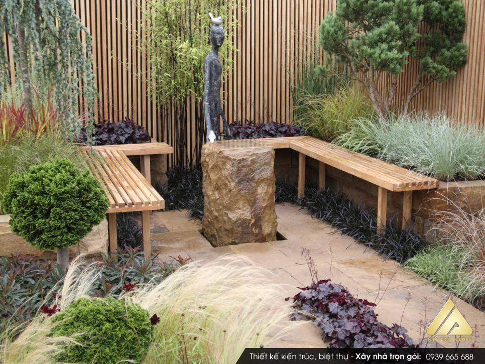 Mẫu sân vườn nhà ống
