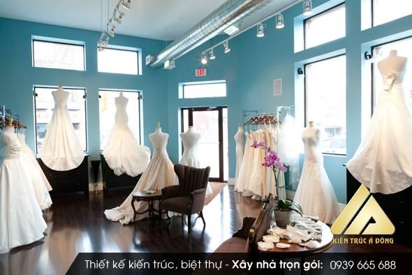 Mẫu nội thất showroom áo cưới
