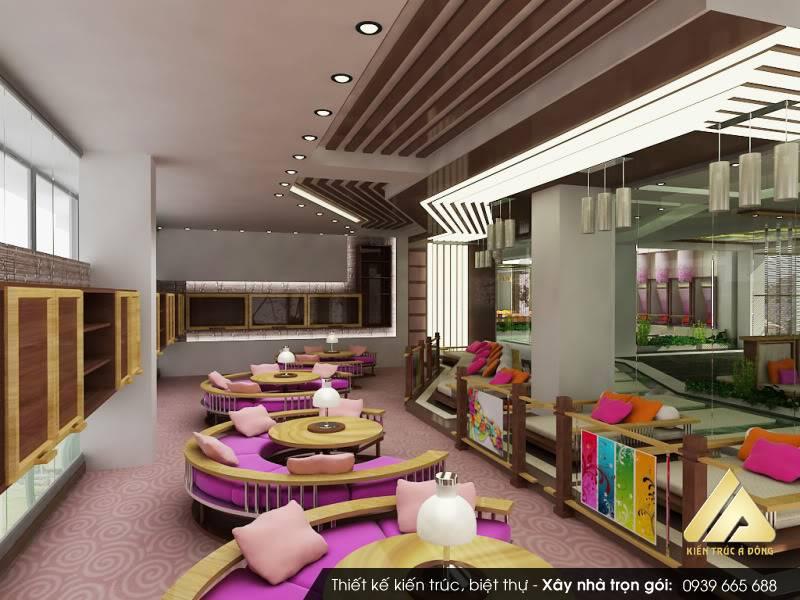 Mẫu quán Cafe 2 tầng