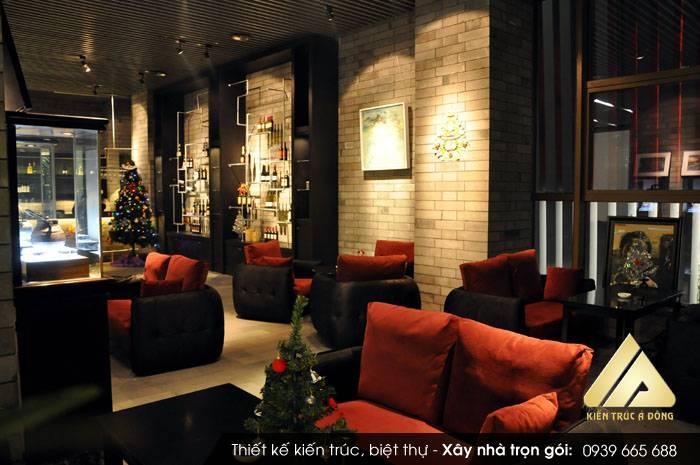 Mẫu quán cafe 4 tầng