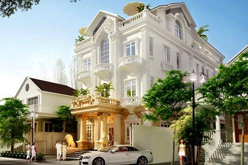 Thiết kế biệt thự nghỉ dưỡng kiểu Pháp