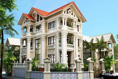 Mẫu thiết kế biệt thự cổ điển sang trọng