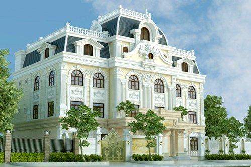 Mẫu thiết kế biệt thự Pháp cổ điển 3 tầng