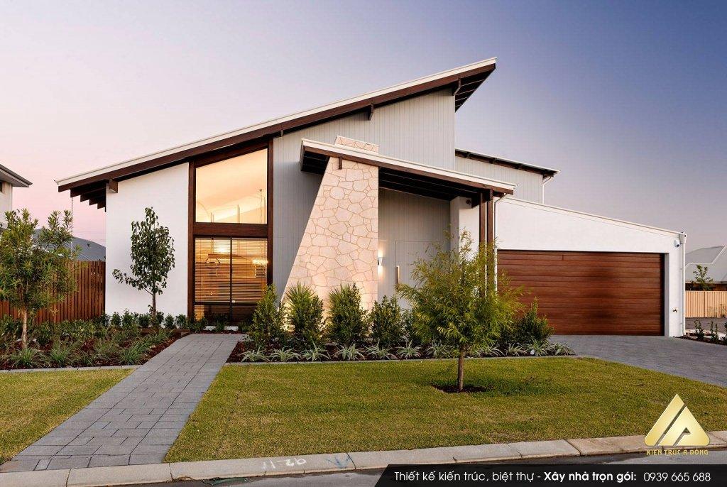Hỏi xây biệt thự 1 tầng hiện đại như mẫu này bao tiền?