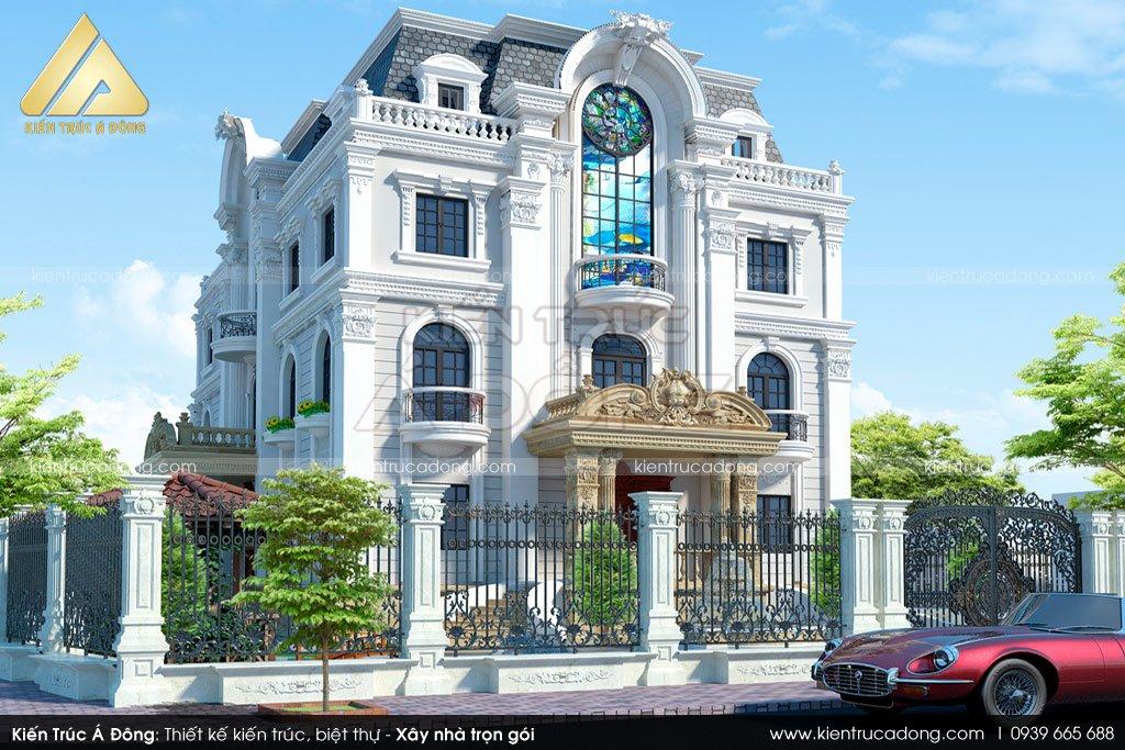 Mẫu biệt thự cổ điển 3 tầng tại Bình Dương