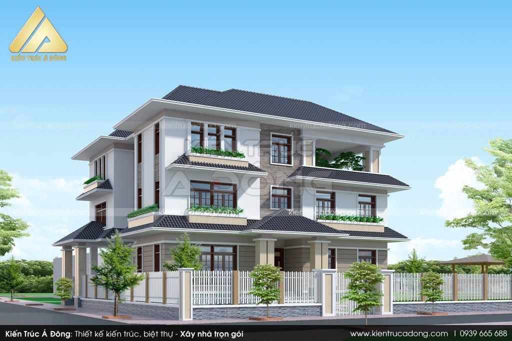 Mẫu biệt thự đẹp hiện đại 3 tầng tại Bắc Ninh