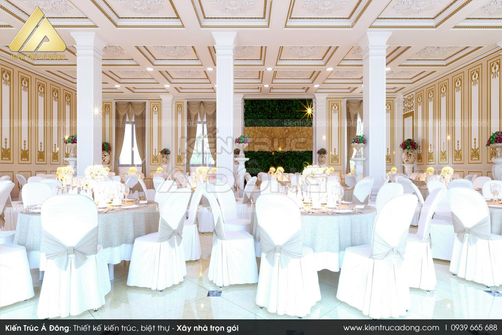 Thiết kế nội thất nhà hàng tiệc cưới tại Bắc Ninh