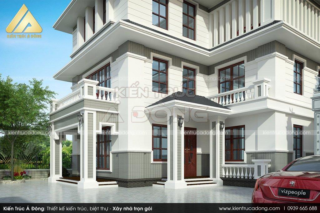 Mẫu biệt thự 3 tầng đẹp, sang trọng tại Bắc Ninh