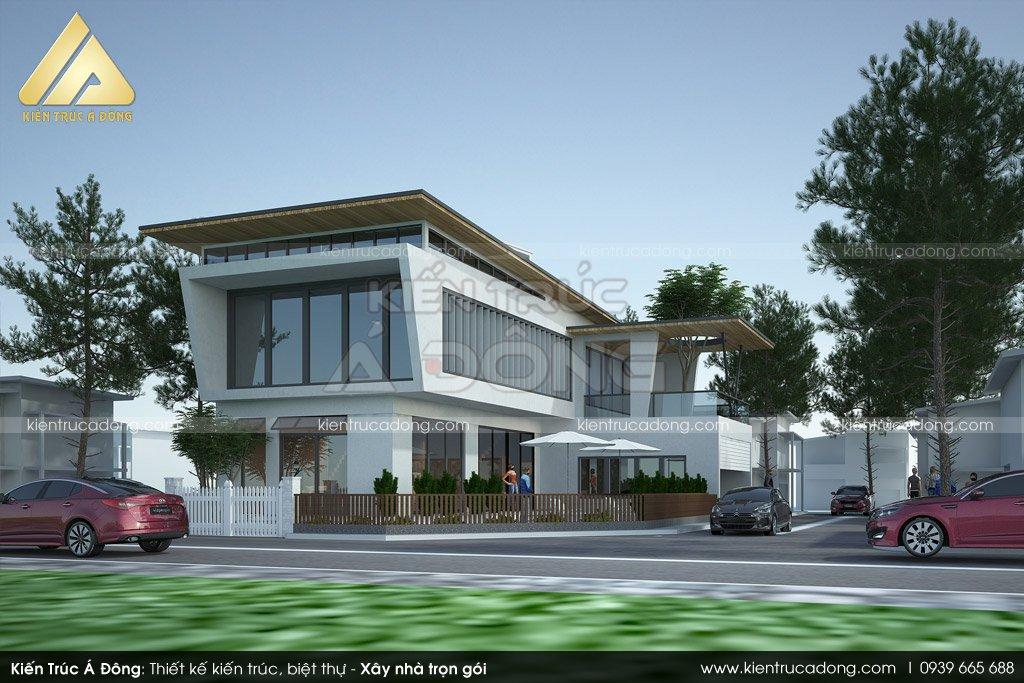 Mẫu thiết kế biệt thự 2 tầng hiện đại tại quận Hoàn Kiếm