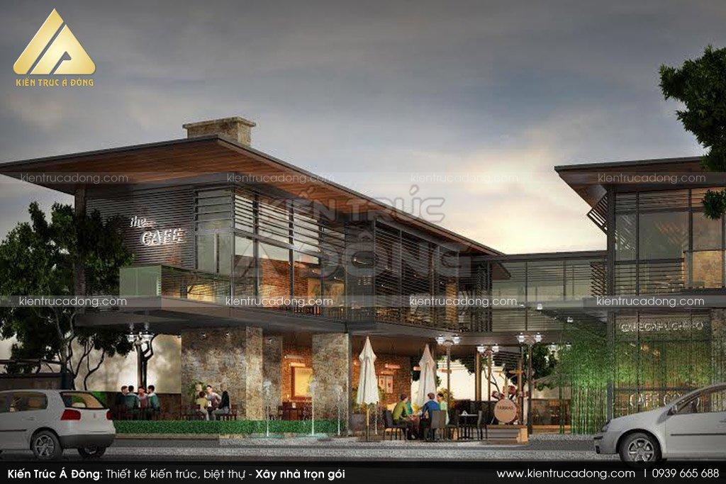Mẫu thiết kế quán cafe sân vườn tại Hà Nam