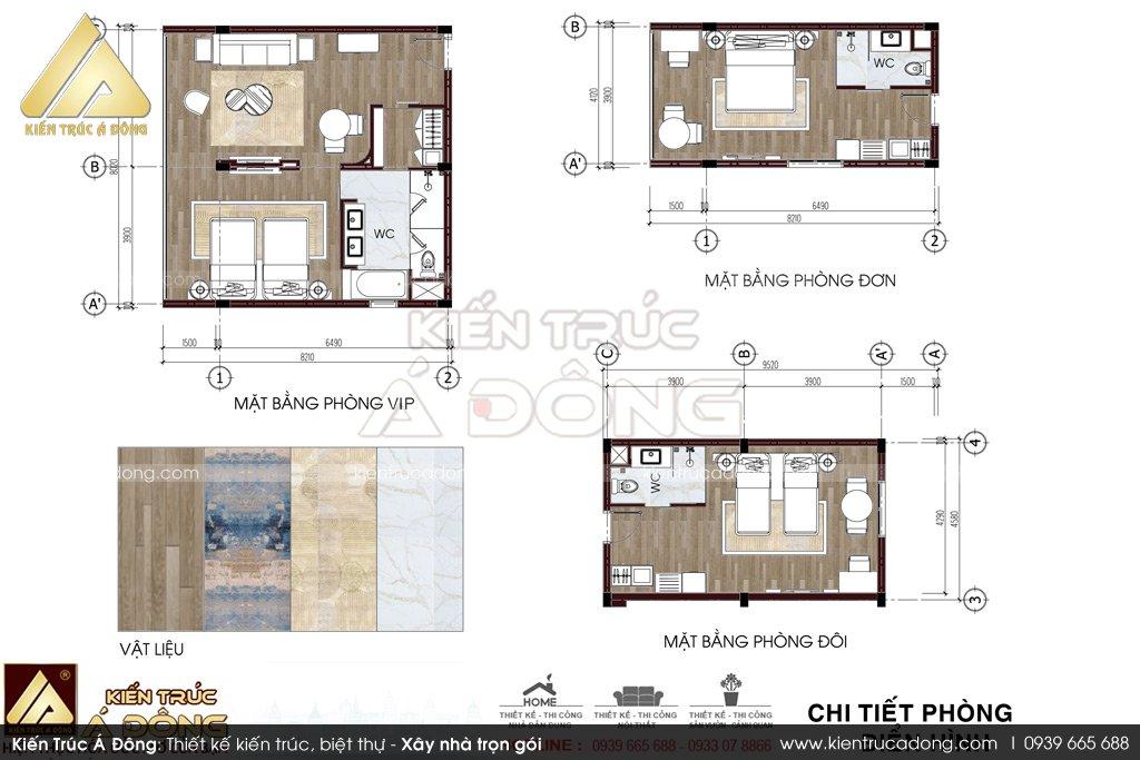 Mẫu thiết kế khách sạn 3 sao tại Bắc Ninh