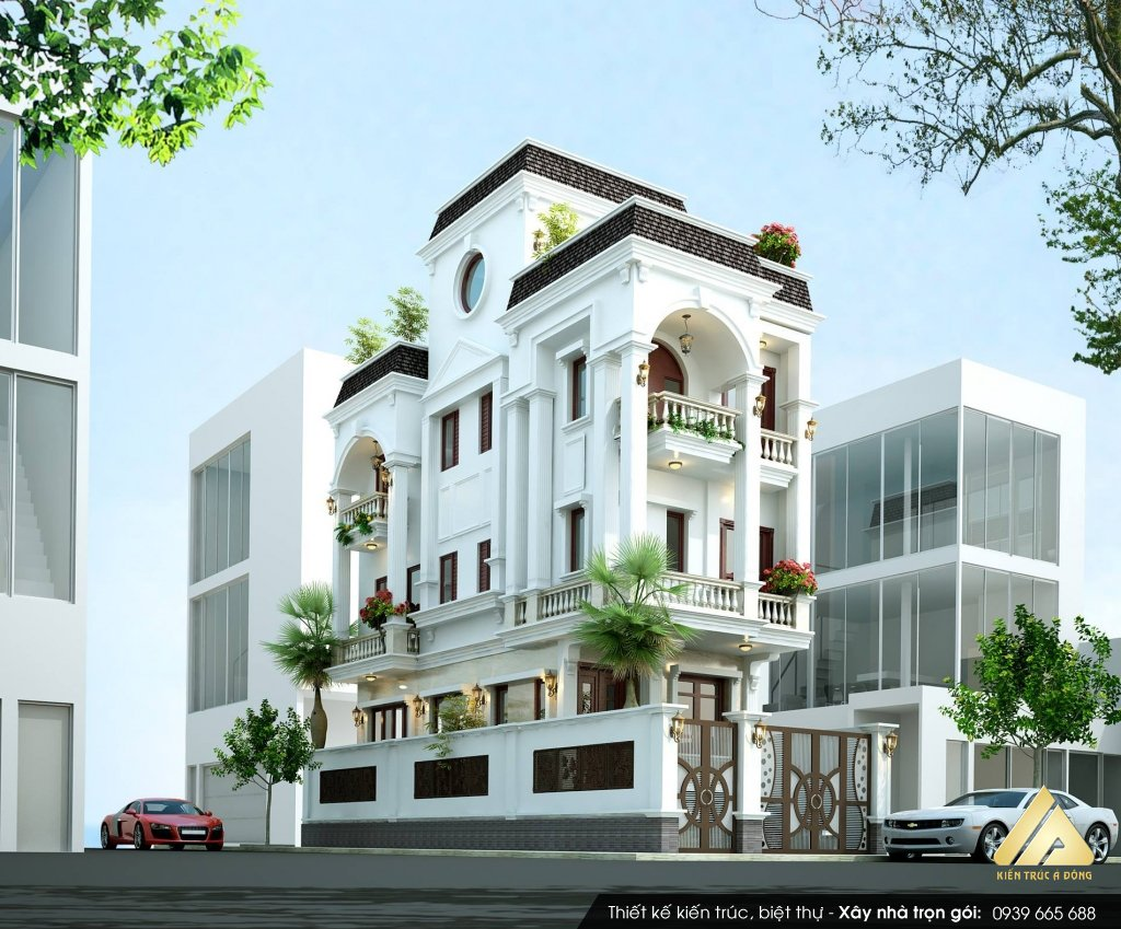 Mẫu nhà phố 5 tầng phong cách hiện đại tại Bắc Giang