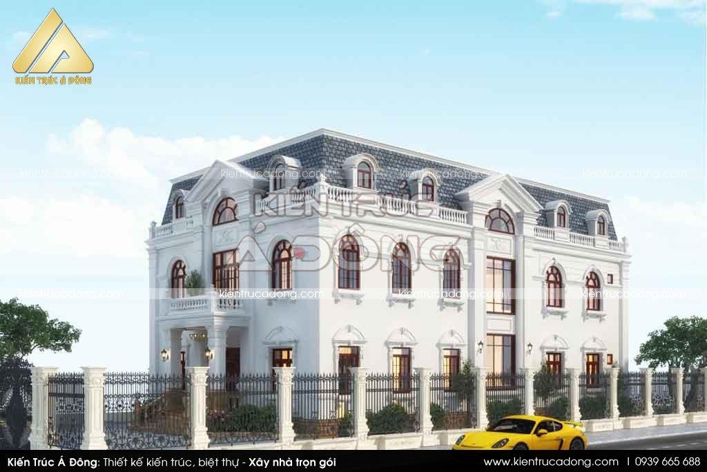 Thiết kế mẫu biệt thự 2 tầng kiểu pháp sang trọng, độc đáo năm 2021.