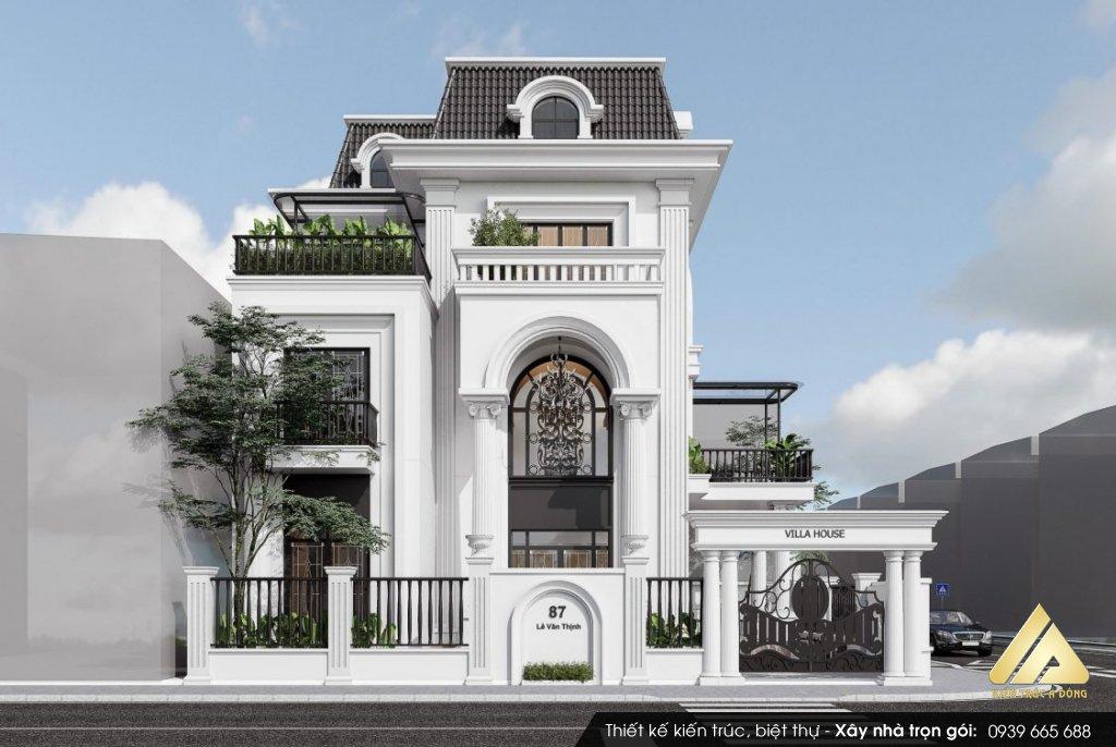 Thiết kế biệt thự tân cổ điển độc đáo -xu hướng 2021