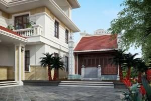 Mẫu nhà ở 3 tầng đẹp, sang trọng tại Bắc Ninh