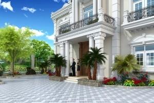 Mẫu dinh thự 2 tầng cổ điển Pháp đẳng cấp