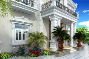 Mẫu biệt thự 2 tầng cổ điển Pháp đẳng cấp