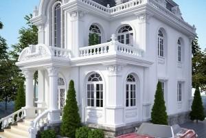 Mẫu biệt thự cổ điển 2 tầng mặt tiền 8m