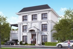 Thiết kế dinh thự tân cổ điển 3 tầng tại Bắc Ninh
