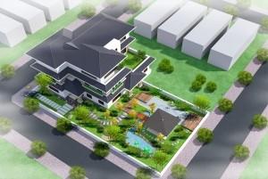 Mẫu biệt thự 3 tầng mái thái cao cấp