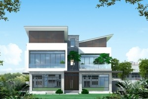 Mẫu biệt thự hiện đại 3 tầng độc đáo tại Quảng Ninh