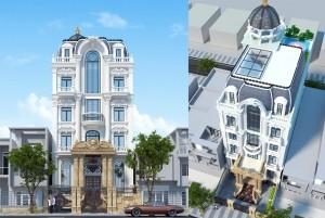 Mẫu dinh thự cổ điển 5 tầng 2 mặt tiền