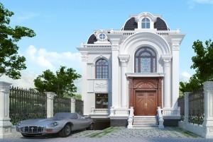 Mẫu dinh thự tân cổ điển 2 tầng