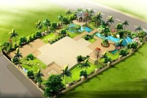 Mẫu thiết kế sân vườn biệt thự đẹp, sân vườn tiểu cảnh Á Đông